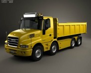 3D model of Iveco Strator Tipper Truck 2014
