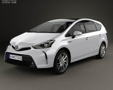 3D model of Toyota Prius Plus 2015