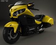 3D model of Honda Gold Wing F6B 2013