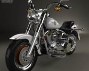 3D model of Harley-Davidson FLSTF Fat Boy 1990