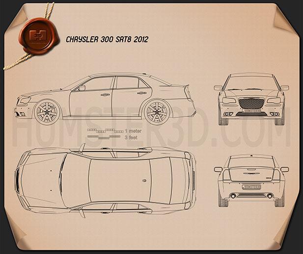 Chrysler 300 Srt8 2012 By Humster3d: Chrysler 300 SRT8 2012 Blueprint