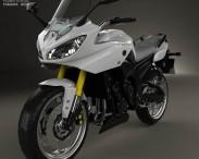 3D model of Yamaha FZ8 2013