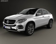 3D model of Mercedes-Benz GLE-Class coupe 2014