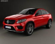 3D model of Mercedes-Benz GLE-Class AMG Line coupe 2014