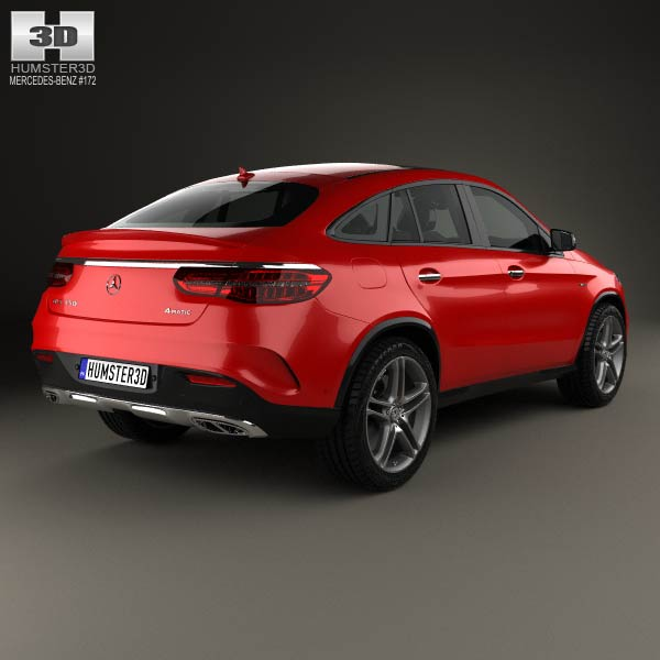 Mercedes benz gle class amg line coupe 2014 3d model for 2014 mercedes benz models