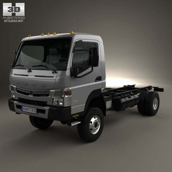 3D model of Mitsubishi Fuso Canter Chassis Truck 2013