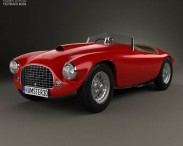 3D model of Ferrari 166 MM Barchetta 1948