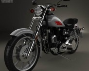 3D model of Harley-Davidson FXS Low Rider 1980