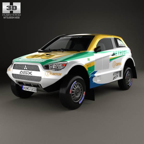 3D model of Mitsubishi ASX Dakar Racing 2014