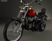 3D model of Harley-Davidson FXWG Wide Glide 1980
