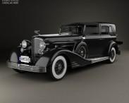 3D model of Cadillac V-16 town car 1933