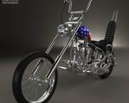 3D model of Harley-Davidson Easy Rider Captain America 1969
