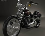 3D model of Harley-Davidson FXSTS Springer Softail 1988