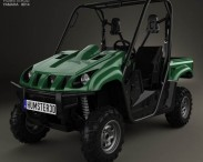 3D model of Yamaha Rhino 700 2013