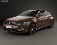 3D model of Volkswagen Lamando 2014