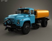 3D model of ZIL 130 Street Cleaner Truck 1964