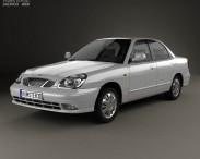 3D model of Daewoo Nubira sedan 1999