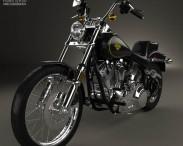 3D model of Harley-Davidson FXST Softail 1984