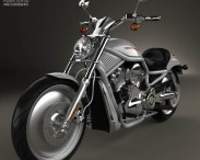 3D model of Harley-Davidson VRSCA V-Rod 2002