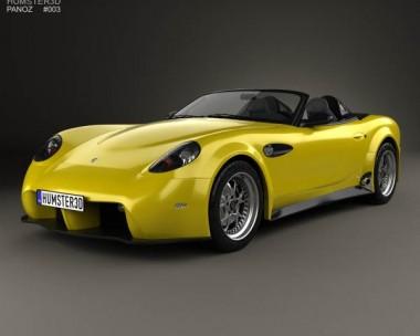 3D model of Panoz Esperante Spyder GT 2015