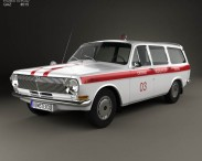 3D model of GAZ 24 Volga Ambulance 1967