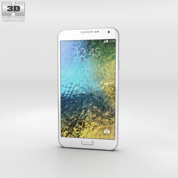 3D model of Samsung Galaxy E7 White