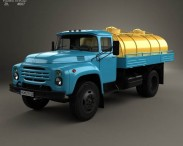 3D model of ZIL 130 Tanker Truck 1964
