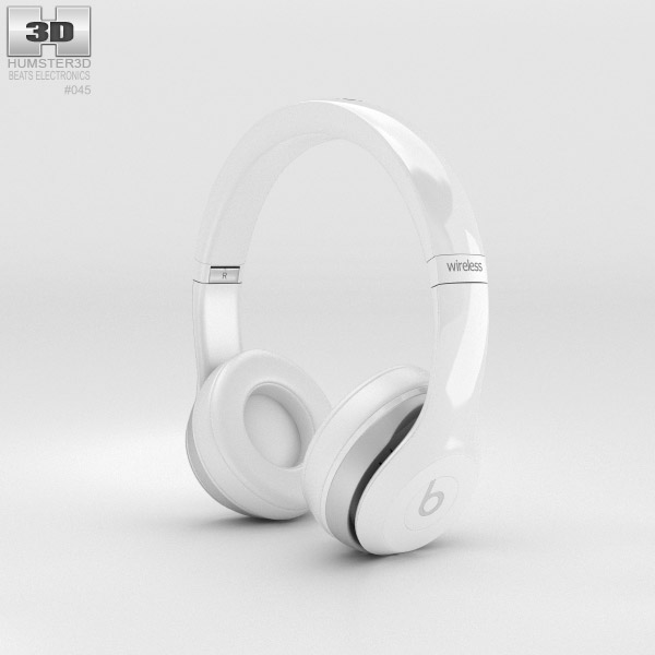 3D model of Beats by Dr. Dre Solo2 Wireless Headphones White