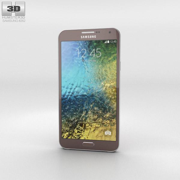 3D model of Samsung Galaxy E7 Brown