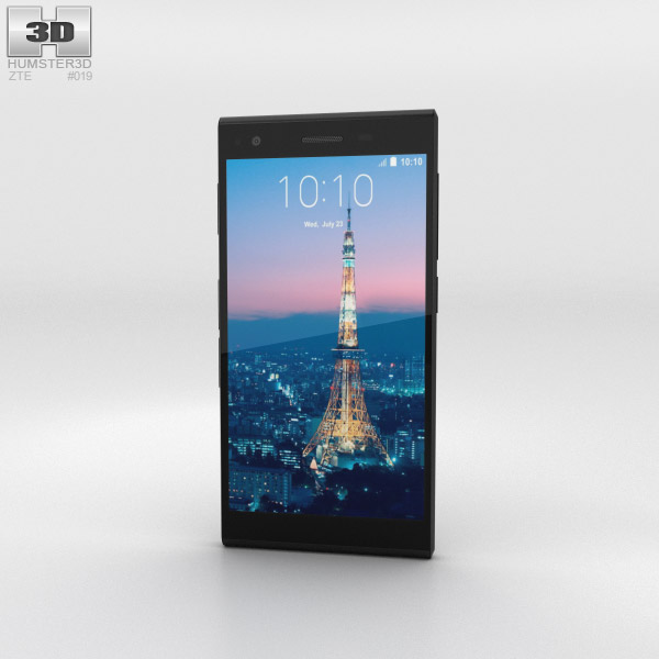 3D model of ZTE Blade Vec 3G Black