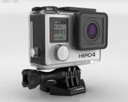3D model of GoPro HERO4 Silver