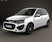 3D model of Lada Kalina (2192) Sport 2014