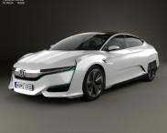 3D model of Honda FCV 2015
