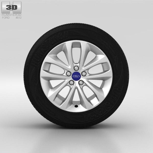 3D model of Ford Kuga Wheel 17 inch 002