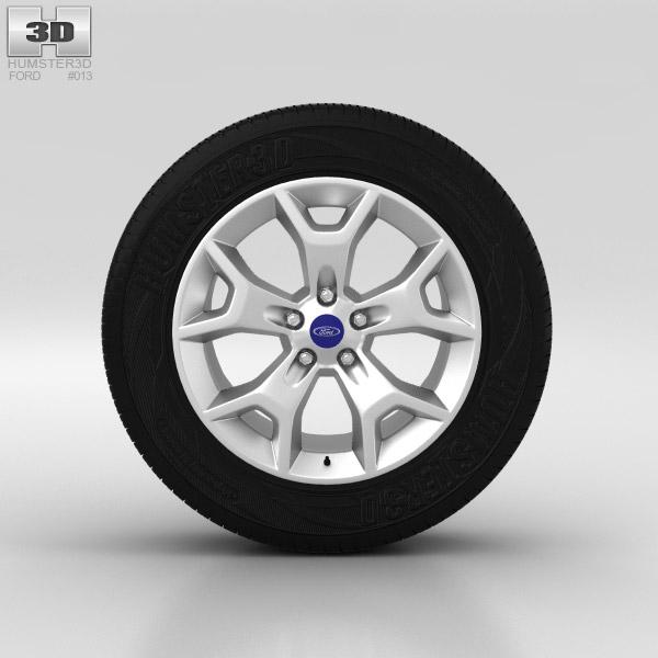 3D model of Ford Kuga Wheel 17 inch 003