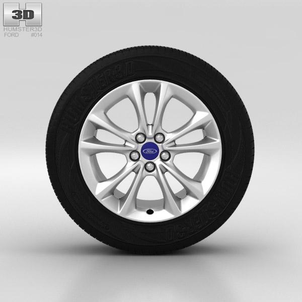 3D model of Ford Kuga Wheel 17 inch 004