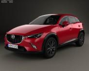 3D model of Mazda CX-3 2016
