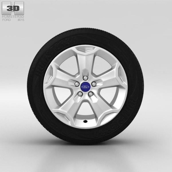 3D model of Ford Kuga Wheel 18 inch 001