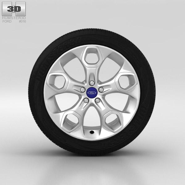 3D model of Ford Kuga Wheel 19 inch 001