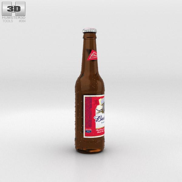Budweiser Beer Bottle 3D model - Humster3D