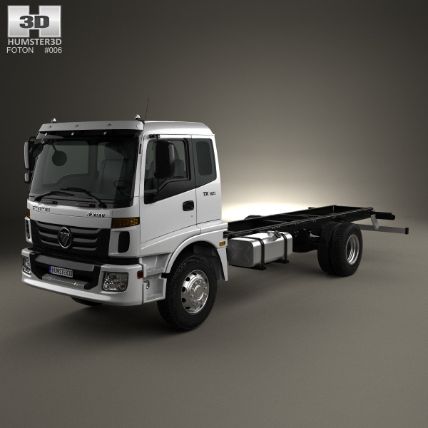 3D model of Foton Auman TX (1621) Chassis Truck 2-axle 2012