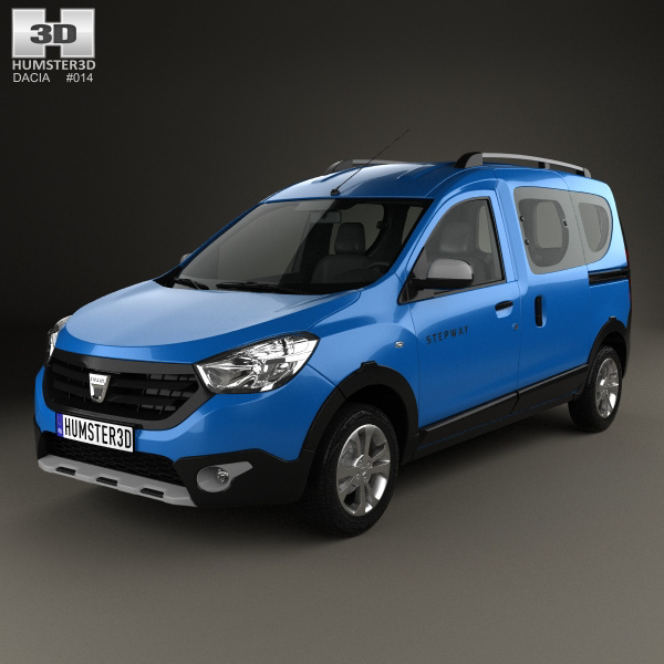 dacia dokker stepway 2014 3d model humster3d. Black Bedroom Furniture Sets. Home Design Ideas