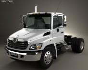 3D model of Hino 338 CT Tractor Truck 2007