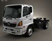 3D model of Hino 500 FC (1018) Chassis Truck 2008