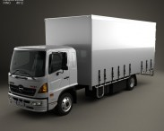 3D model of Hino 500 FD (1027) Load Ace Box Truck 2008