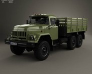 3D model of ZIL 131 Flatbed Truck 1966
