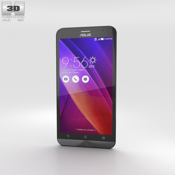 3D model of Asus Zenfone 2 Ceramic White