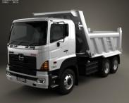 3D model of Hino 700 (2841) Tipper Truck 2009