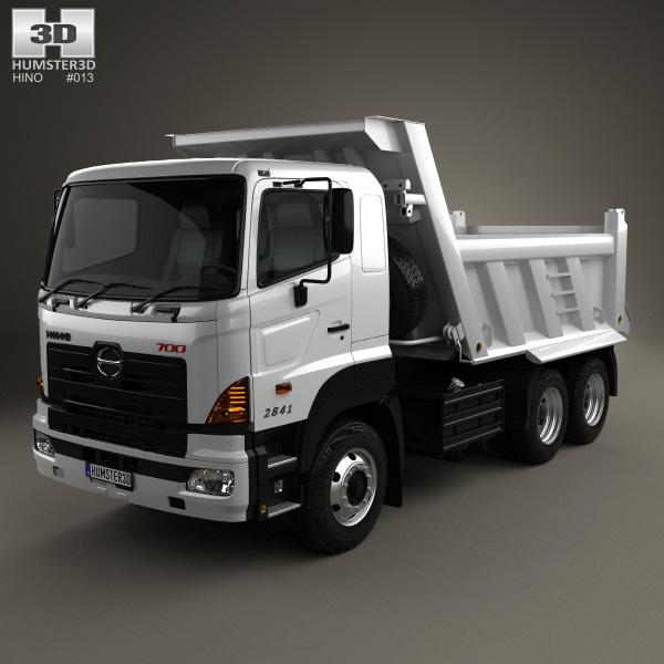 Hino 700 (2841) Tipper Truck 2009 3D model - Humster3D