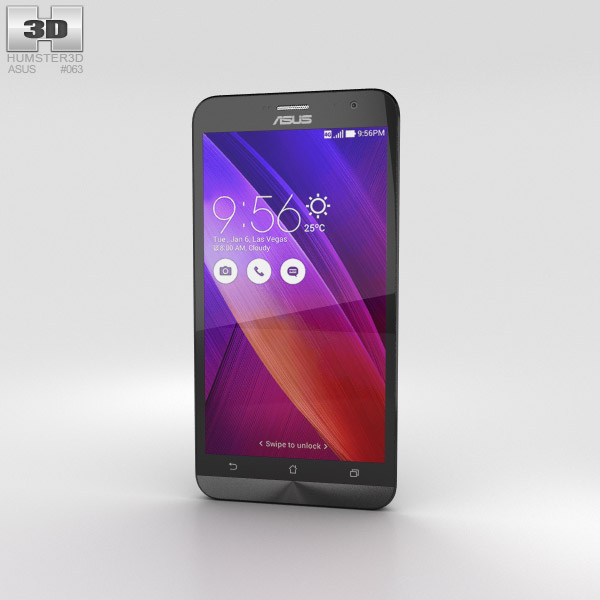 3D model of Asus Zenfone 2 Osmium Black